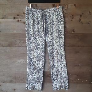 Victoria's Secret Snow Leopard Satin PJ Pants